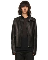 Rick Owens - Black Leather Mollino Biker Jacket - Lyst