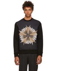 Neil Barrett - Black Cross Floral Sweatshirt - Lyst