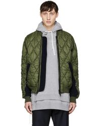 Tim Coppens - Green Quilted Ma-1 Bomber - Lyst
