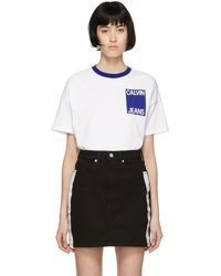 Calvin Klein - White Graphic T-shirt - Lyst
