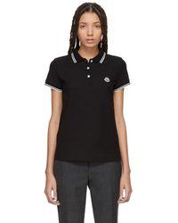 Moncler - Black Logo Polo - Lyst