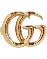 Gucci - Gold Single GG Clip-on Earring - Lyst
