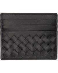 Bottega Veneta | Black Intrecciato Card Holder | Lyst