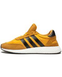 beda187eb63 Lyst - adidas Originals Iniki Mesh   Suede Running Sneakers in Red ...