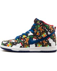 a40436f1c6f1 Lyst - Nike + Undercover Dunk Sky Hi Leather And Faux Calf Hair ...