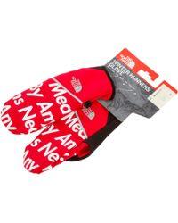 Supreme - Tnf Winter Runners Gloves - Lyst