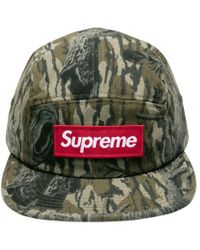 71b2e9ec7be Lyst - Supreme Military Painted Camp Cap Olive Camo in Green for Men