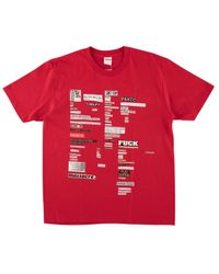 Supreme - Cutouts T-shirt 'fw 18' - Lyst
