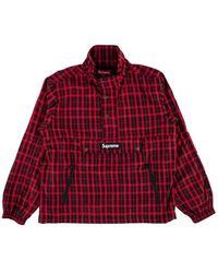 80693cdf Saint Laurent Plaid Cardigan in Red for Men - Lyst