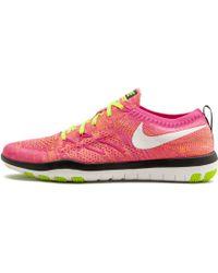 3c7e1c89938e Lyst - Nike Free Focus Flyknit 2 Women s Training Shoe in Blue