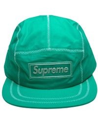 bd85918e Supreme Piping Camp Cap in Blue for Men - Save 14% - Lyst