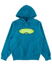 c699355f Supreme - Reverse Fleece Hooded Sweatshirt - Lyst. Supreme - Diagonal Hooded  Sweatshirt Dark Aqua ...