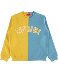 Supreme - Split Crewneck Sweatshirt - Lyst