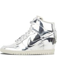 f26ae61fdc31 Nike Dunk Sky Hi 2.0 Joli Leather High-top Sneakers in Blue - Lyst