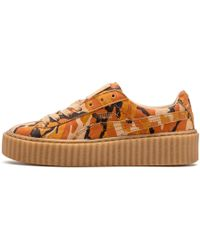 5e20661177e508 Lyst - PUMA X Rihanna Suede Creepers - Pink green Oatmeal in Pink