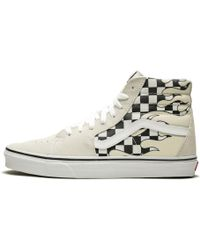 d6b3e231a5 Lyst - Vans The Women s Sk8-hi Checker Sidewall In Black And True ...