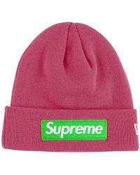 Supreme - New Era Box Logo Beanie - Lyst 134f80f2316b
