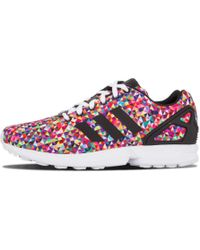 95f2afe9c Lyst - adidas Men s Zx Flux Floral Print Casual Sneakers From Finish ...