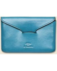 Il Bussetto - Business Card Holder - Cadet Blue - Lyst