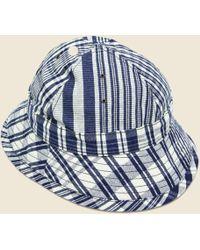 The Hill-side - Check Oxford Daisy Mae Hat - Indigo/white - Lyst