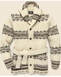 RRL - Wool Ranch Sweater - Cream/brown - Lyst