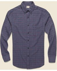 983dc183 Faherty Brand - Windowpane Pacific Shirt - Charcoal/coral - Lyst
