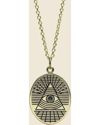 LHN Jewelry - All Seeing Eye Pendant - Brass - Lyst