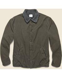 Save Khaki - Berber Lined Warm Up Jacket - Olive - Lyst