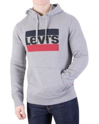 Levi's - Grey 84 Graphic Pullover Hoodie - Lyst