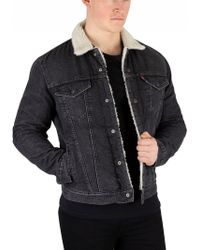 Levi's - Charcoal Type 3 Fegin Sherpa Trucker Jacket - Lyst