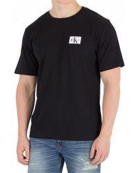 Calvin Klein - Black Monogram Chest Badge T-shirt - Lyst