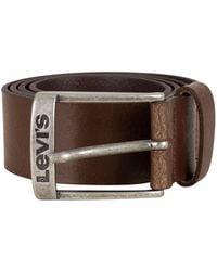 Levi's - Dark Brown New Duncan Belt - Lyst
