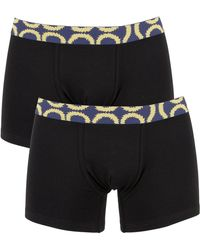 Vivienne Westwood - Black 2 Pack Squiggle Waistband Trunks - Lyst