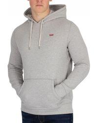 Levi's - Grey Heather Original Pullover Hoodie - Lyst