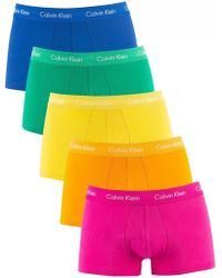 Calvin Klein - Pride Colours 5 Pack Low Rise Trunks - Lyst