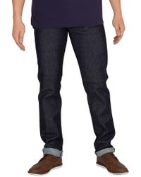 Edwin - Blue Denim Rinsed Ed-80 Cs Slim Tapered Jeans - Lyst