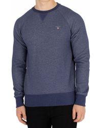 GANT - Dark Jeans Blue Melange Original Sweatshirt - Lyst