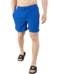 Lyle & Scott - Lake Blue Plain Swim Shorts - Lyst