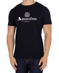 Aquascutum - Men's Griffin Crew Neck Logo Short Sleeve Tshirt - Lyst