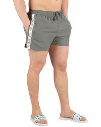 Calvin Klein - Sedona Sage Short Runner Logo Swimshorts - Lyst