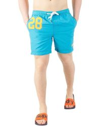 Superdry - Ocean Blue Water Polo Swim Shorts - Lyst