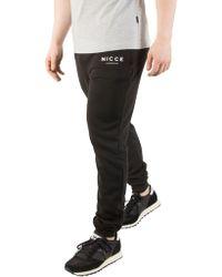Nicce London - Black Original Logo Joggers - Lyst