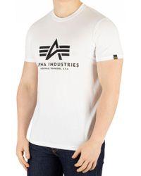 Alpha Industries - White Basic T-shirt - Lyst