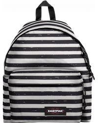 Eastpak - Striped It Black Padded Pak'r Backpack - Lyst