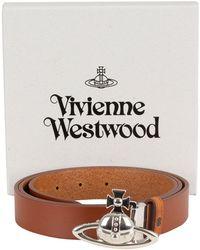 Vivienne Westwood - Brown Orb Buckle Palladio Belt - Lyst