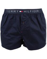 Tommy Hilfiger - Navy Blazer Icon Cotton Woven Boxer - Lyst