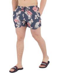 Sik Silk - Navy Hazey Daze Swim Shorts - Lyst