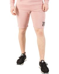 11 Degrees - Rose Marl Core Sweat Shorts - Lyst