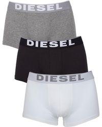 DIESEL - White/black/grey Kory 3 Pack Trunks - Lyst