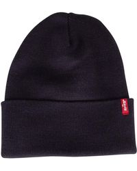 Levi's - Navy Blue Slouchy Red Tab Beanie - Lyst